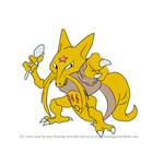 How to Draw Kadabra from Pokemon