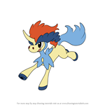 How to Draw Keldeo from Pokemon