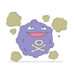How to Draw Koffing from Pokemon