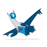 How to Draw Latios from Pokemon