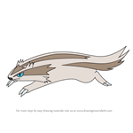 How to Draw Linoone from Pokemon