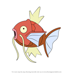 How to Draw Magikarp from Pokemon