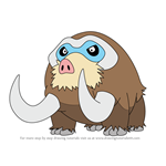 How to Draw Mamoswine from Pokemon