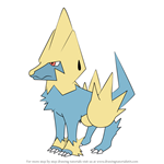 How to Draw Manectric from Pokemon