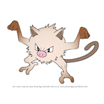 How to Draw Mankey from Pokemon