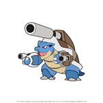 How to Draw Mega Blastoise from Pokemon