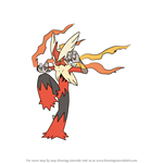 How to Draw Mega Blaziken from Pokemon