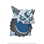How to Draw Mega Glalie from Pokemon