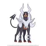 How to Draw Mega Houndoom from Pokemon