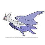 How to Draw Mega Latios from Pokemon