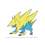 How to Draw Mega Manectric from Pokemon