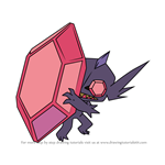 How to Draw Mega Sableye from Pokemon