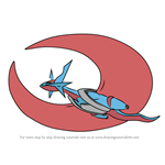 How to Draw Mega Salamence from Pokemon