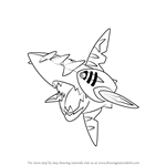 How to Draw Mega Sharpedo from Pokemon