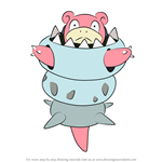 How to Draw Mega Slowbro from Pokemon