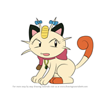 How to Draw Meowzie from Pokemon