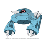 How to Draw Metang from Pokemon