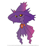 How to Draw Mismagius from Pokemon