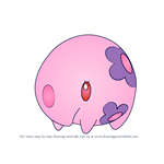 How to Draw Munna from Pokemon