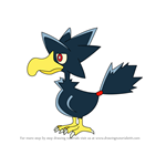 How to Draw Murkrow from Pokemon