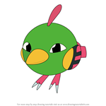 How to Draw Natu from Pokemon