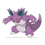 How to Draw Nidoking from Pokemon