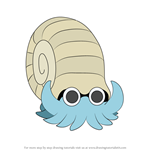How to Draw Omanyte from Pokemon
