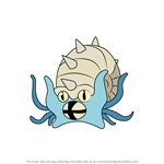 How to Draw Omastar from Pokemon