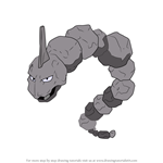 How to Draw Onix from Pokemon