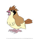 How to Draw Pidgey from Pokemon