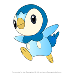 How to Draw Piplup from Pokemon
