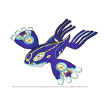 How to Draw Primal Kyogre from Pokemon