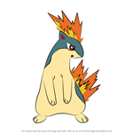 How to Draw Quilava from Pokemon