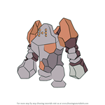 How to Draw Regirock from Pokemon