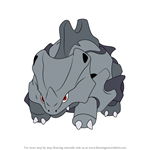 How to Draw Rhyhorn from Pokemon