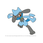 How to Draw Riolu from Pokemon