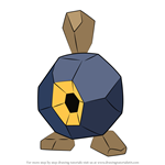 How to Draw Roggenrola from Pokemon