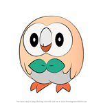 How to Draw Rowlet from Pokemon