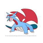 How to Draw Salamence from Pokemon