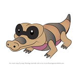 How to Draw Sandile from Pokemon