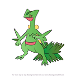 How to Draw Sceptile from Pokemon