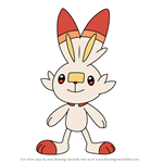 How to Draw Scorbunny from Pokemon