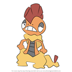 How to Draw Scrafty from Pokemon
