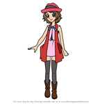 How to Draw Serena from Pokemon