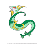 How to Draw Serperior from Pokemon