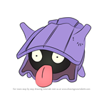 How to Draw Shellder from Pokemon