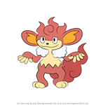 How to Draw Simisear from Pokemon
