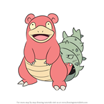 How to Draw Slowbro from Pokemon