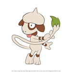 How to Draw Smeargle from Pokemon