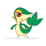 How to Draw Snivy from Pokemon